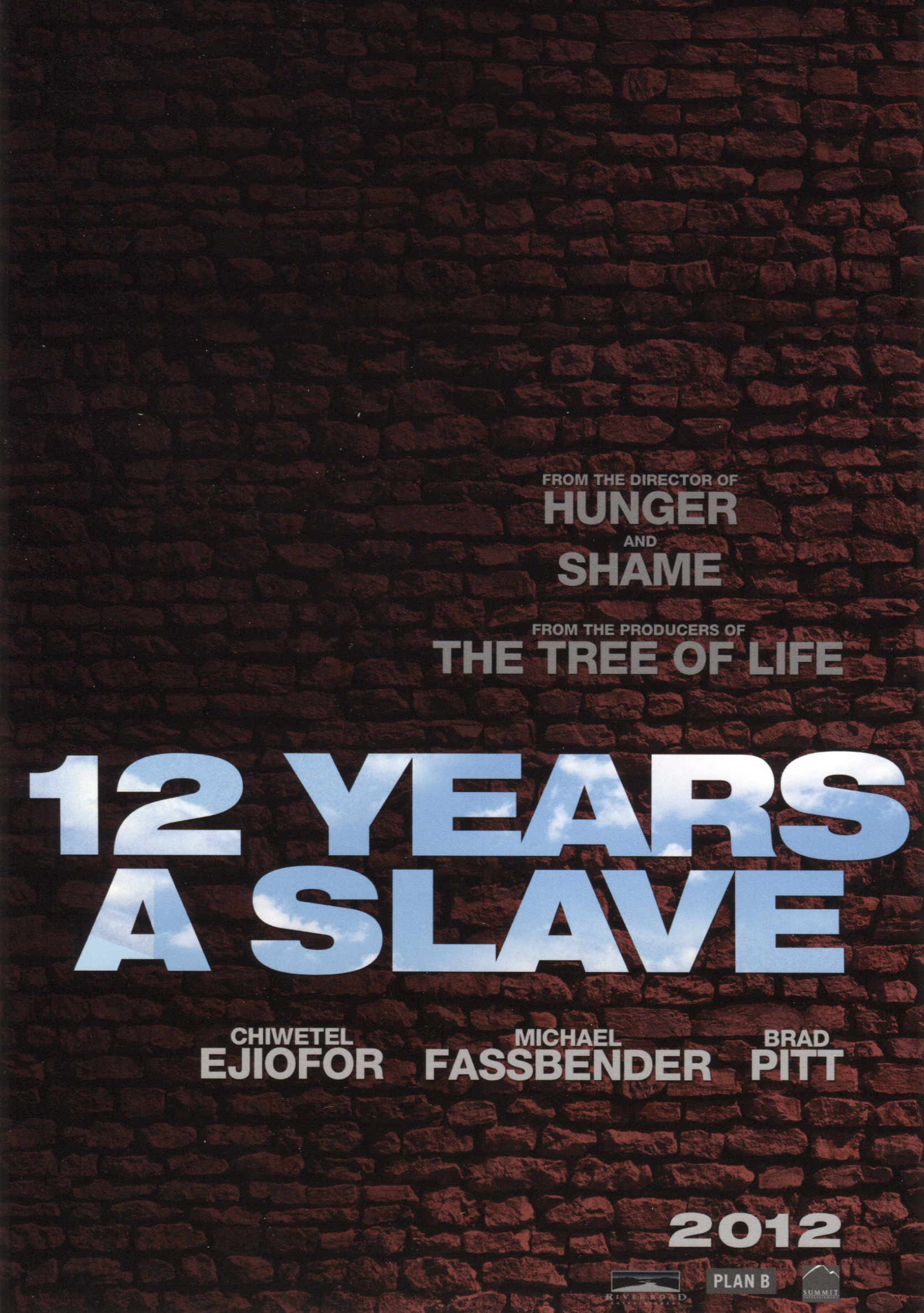 First Synopsis and Promo Poster for 12 YEARS A SLAVE Starring Brad