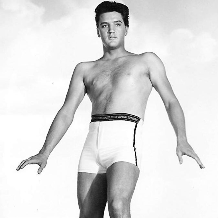 Elvis Presley During Filming Blue Hawaii