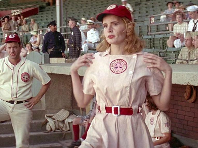 Geena Davis in A League of Their Own