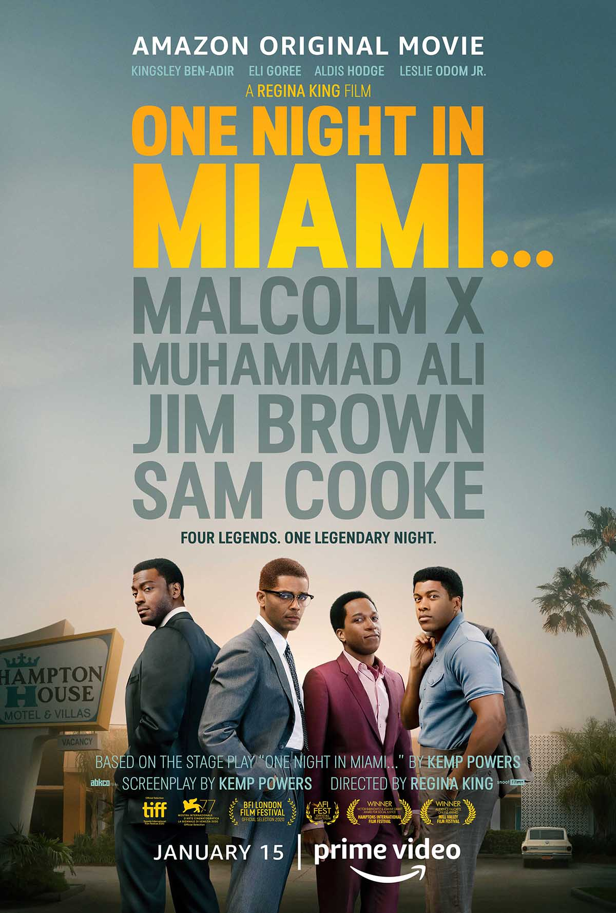 One Night in Miami Trailer Brings Together Four Legends