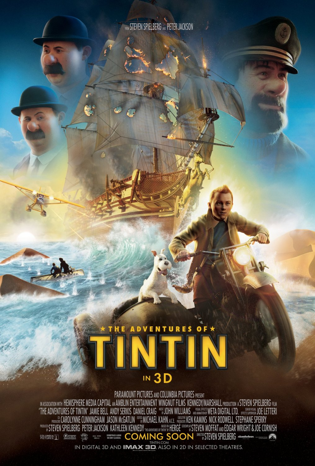 The Adventures of Tintin, the movie based on the internationally  bestselling comic by the late Belgian artist and writer Hergé, produced by  Peter Jackson ...