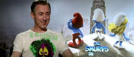 Alan Cumming THE SMURFS interview slice