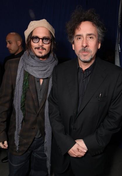 Depp e Burton all'Ultimate Fan Event di Alice in Wonderland, lo scorso 19 febbraio.