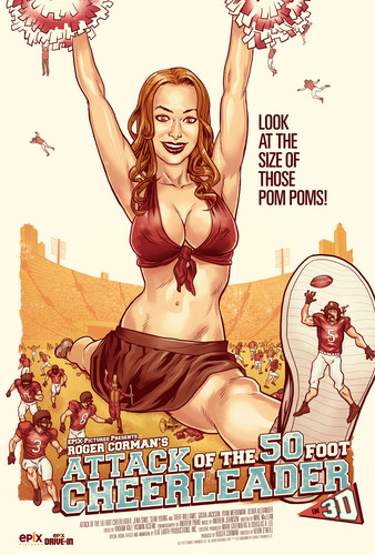 attack of the fifty foot cheerleader poster