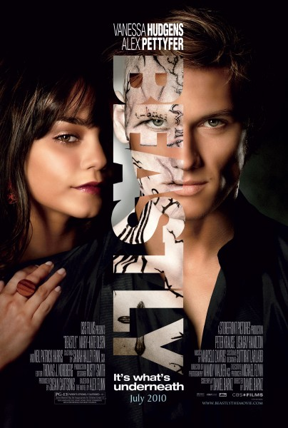 Beastly movie poster starring Vanessa Hudgens and Alex Pettyfer