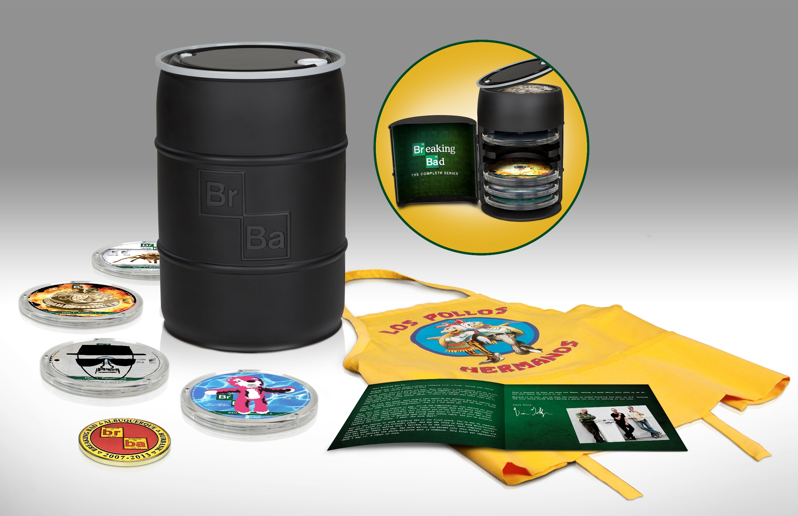 BREAKING BAD Complete Series Blu-ray Comes Stuffed in a Barrel Full of