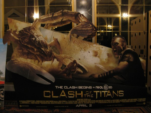 Clash of the Titans movie standee