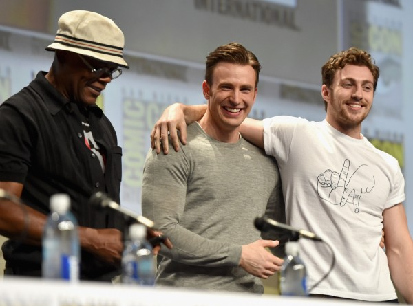 comic-con-chris-evans-aaron-taylor-johnson
