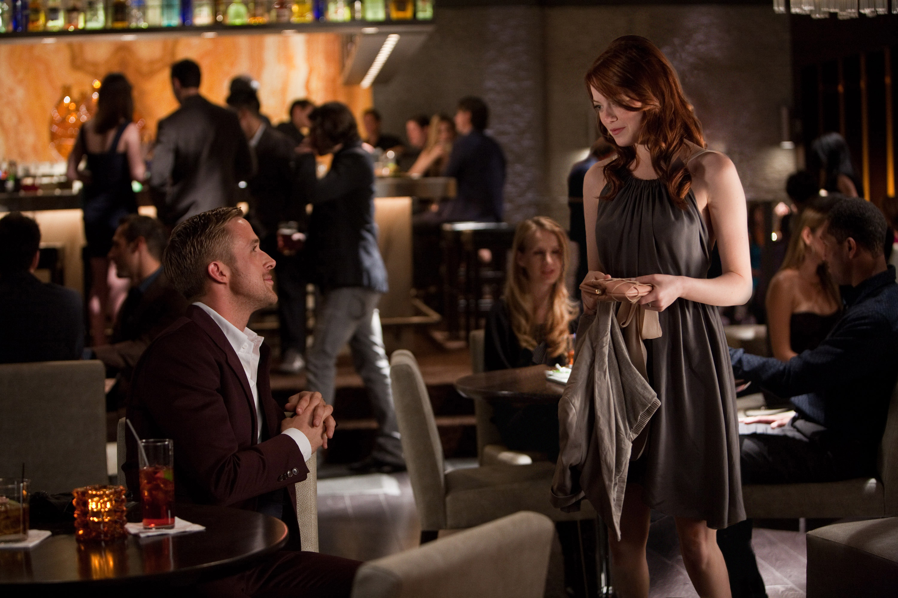 What drink does ryan gosling make in crazy stupid love