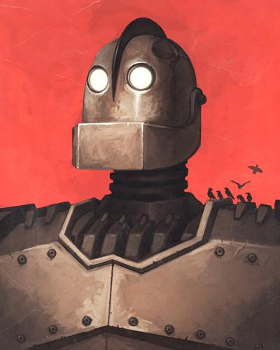 """Portrait of an Iron Giant as a Young Vin Diesel"" by Mike Mitchell"