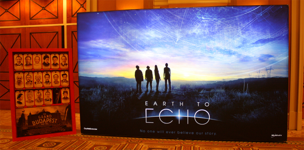 Earth to echo poster theater standee