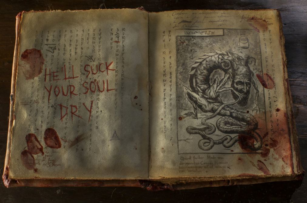the necromonicon from the Evil Dead