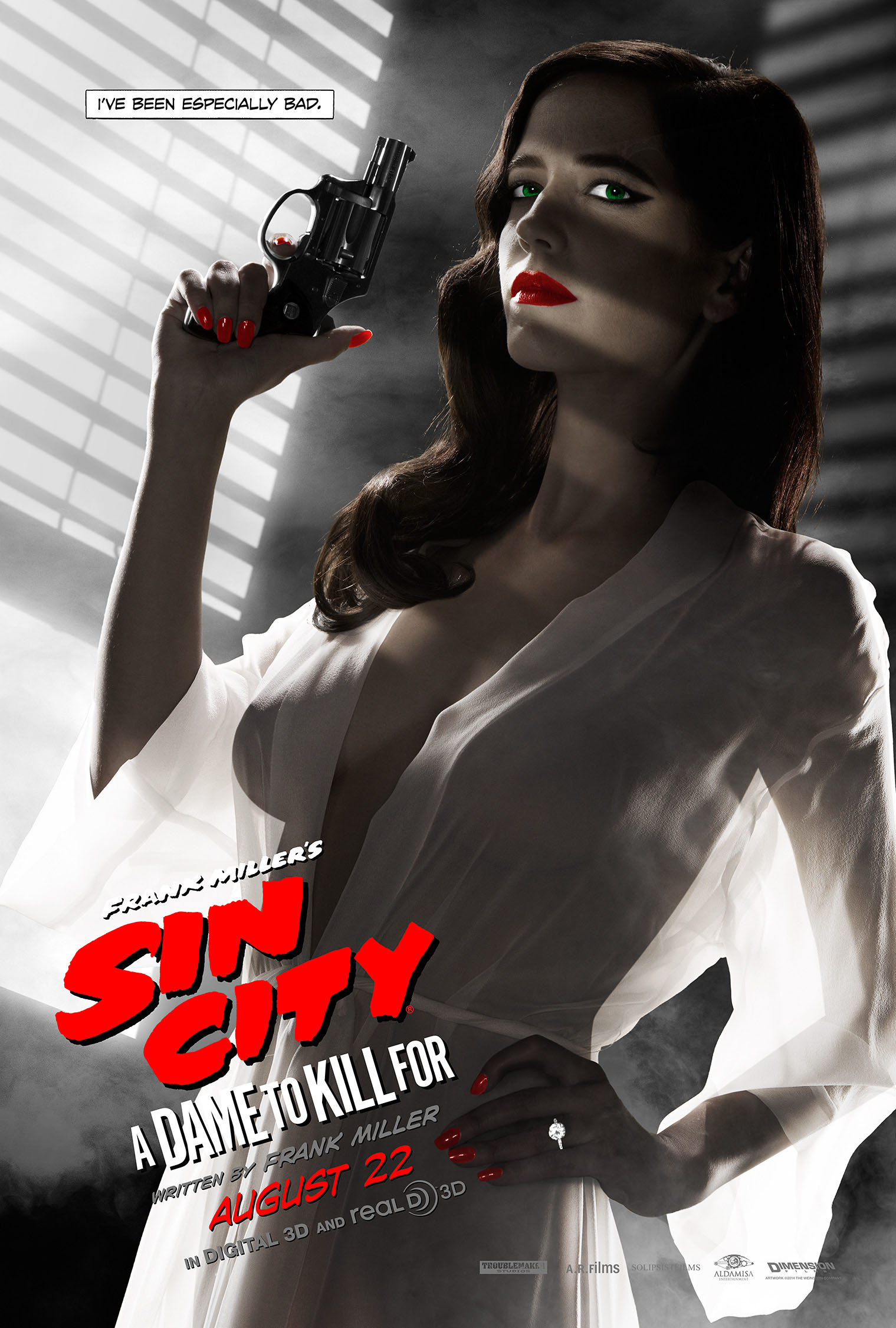 Eva Green Comments On Her Sin City A Dame To Kill For Poster