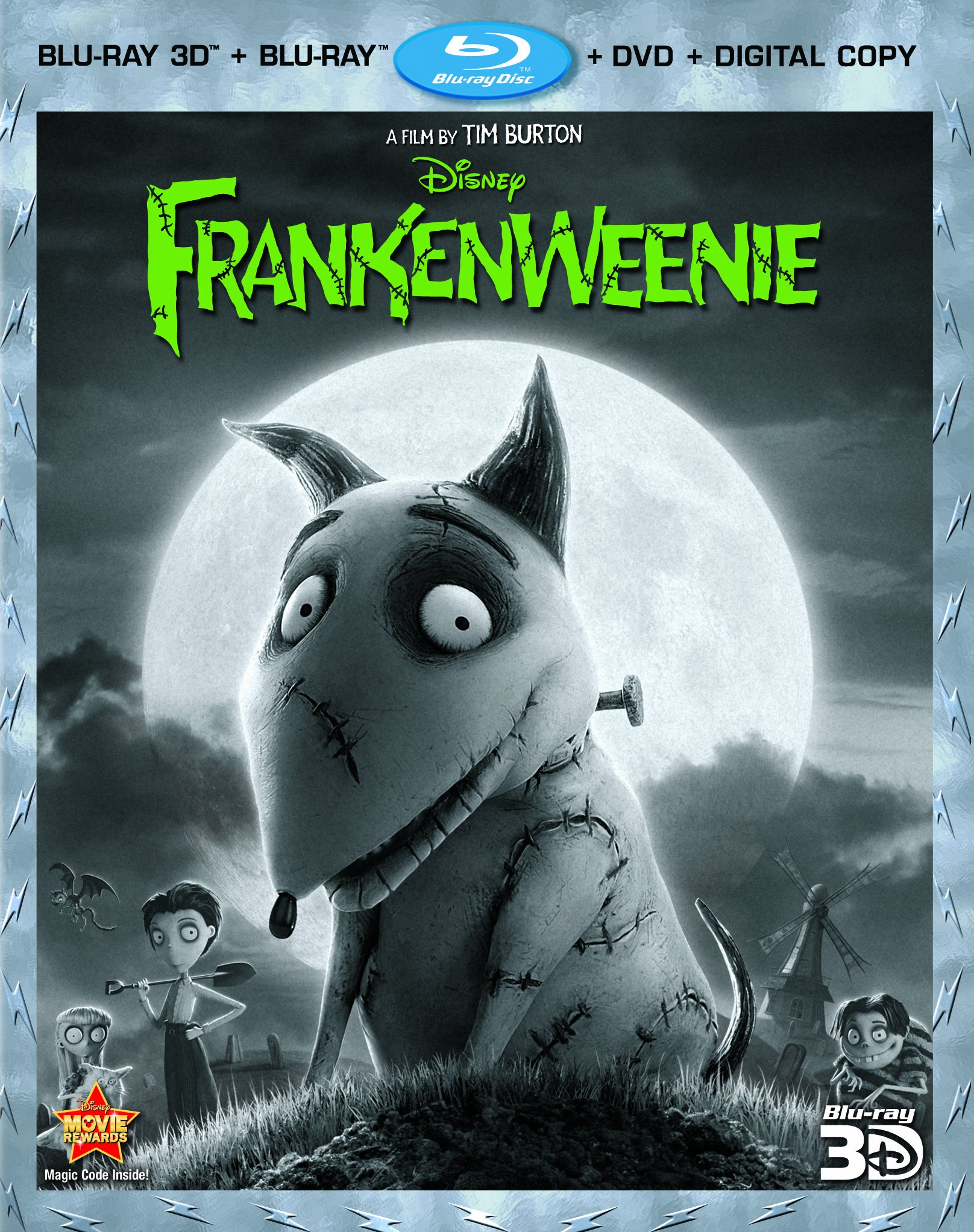 Ray 3d blu ray dvd digital copy frankenweenie two disc blu ray dvd