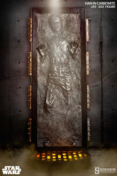 han solo carbonite life size figure