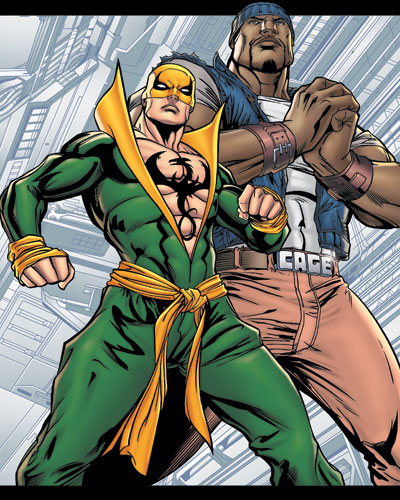 heroes for hire - iron fist and luke cage