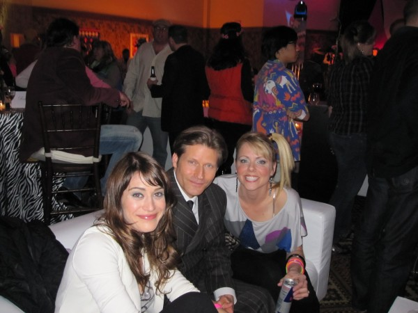 L to R: Lizzy Caplan, Crispin Glover, Collette Wolfe
