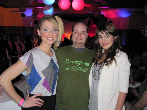 L to R: Collette Wolfe, Me, Lizzy Caplan