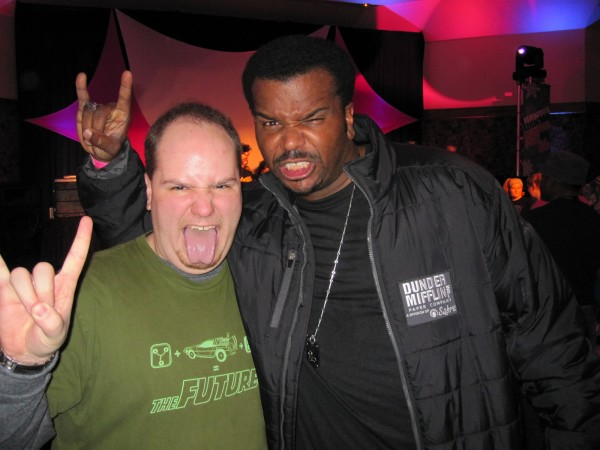 Me and Robinson Salute Rock