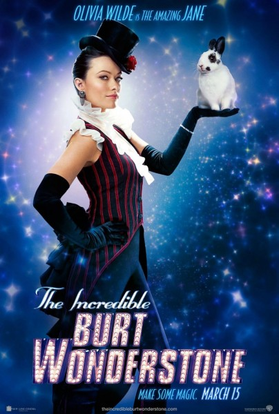 incredible burt wonderstone poster olivia wilde