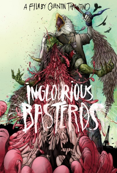 The Lost Art of Inglourious Basterds: Movie Poster by Alex Pardee