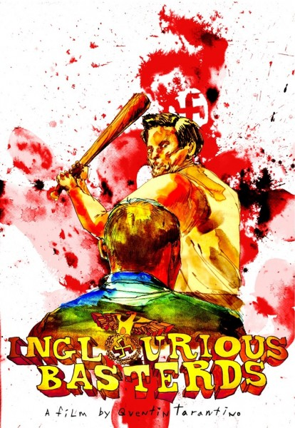 The Lost Art of Inglourious Basterds: Movie Poster by David Choe