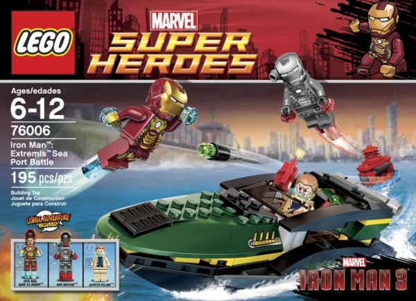 iron man 3 lego box extremis sea port battle