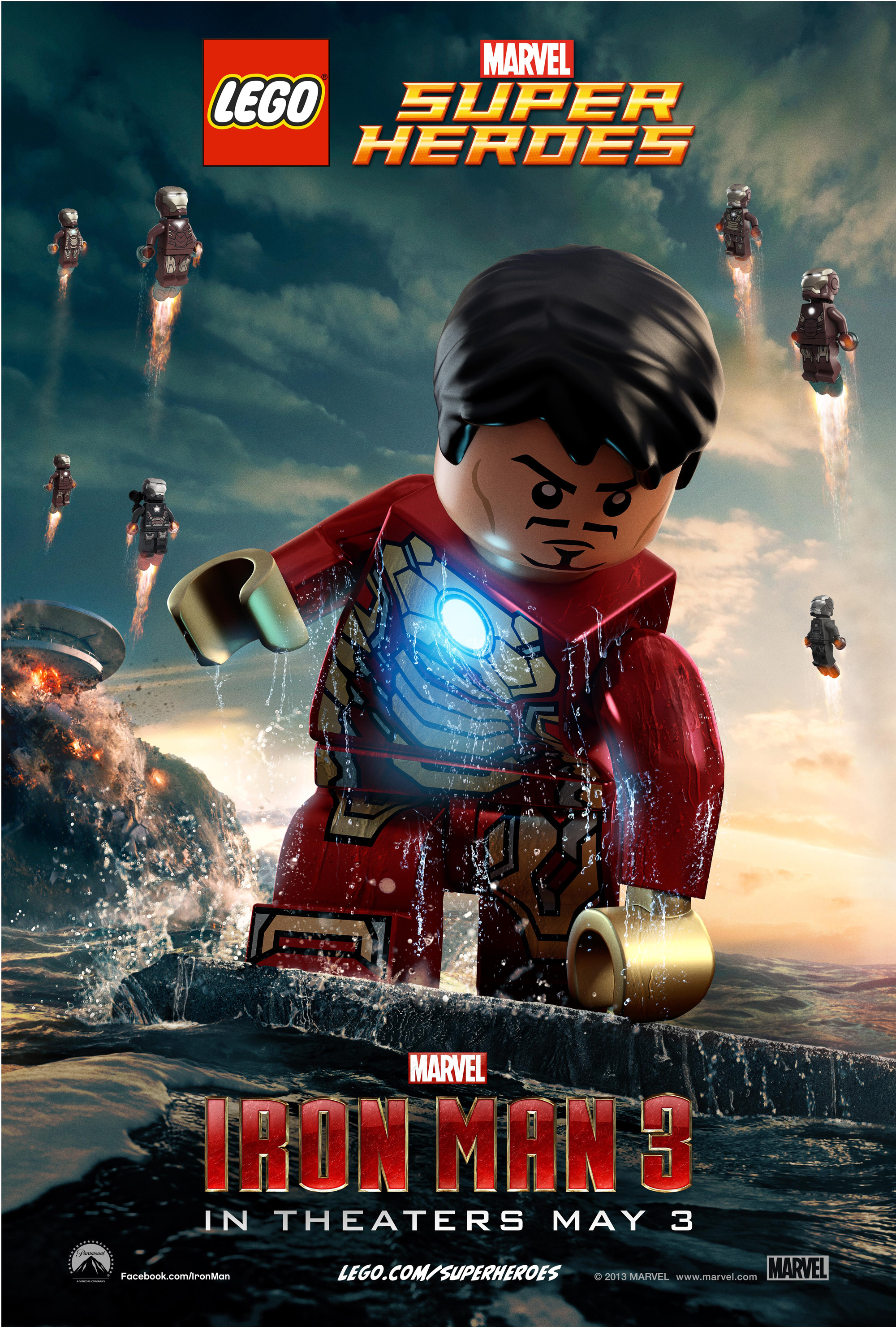 New Posters for IRON MAN 3 Feature Tony Stark in LEGO Form