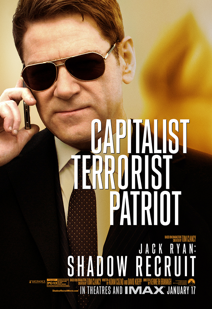 Kenneth Branagh Talks JACK RYAN: SHADOW RECRUIT, Deleted Scenes, What ...
