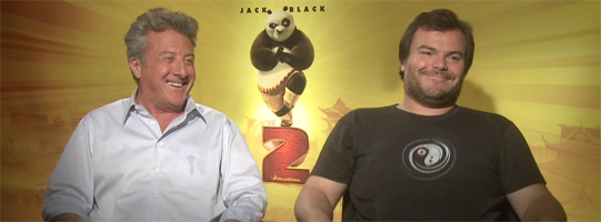 Jack Black and Dustin Hoffman Interview KUNG FU PANDA 2 slice