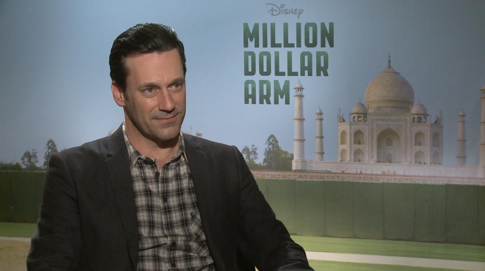 Jon Hamm Talks MILLION DOLLAR ARM, Lake Bell, Filming in ...