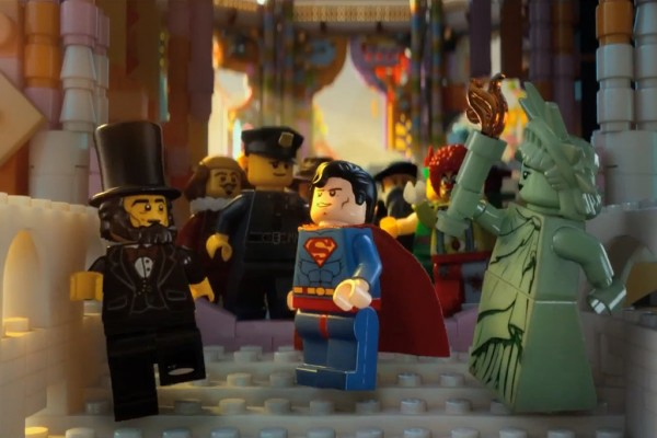 lego movie abraham lincoln superman statue of liberty