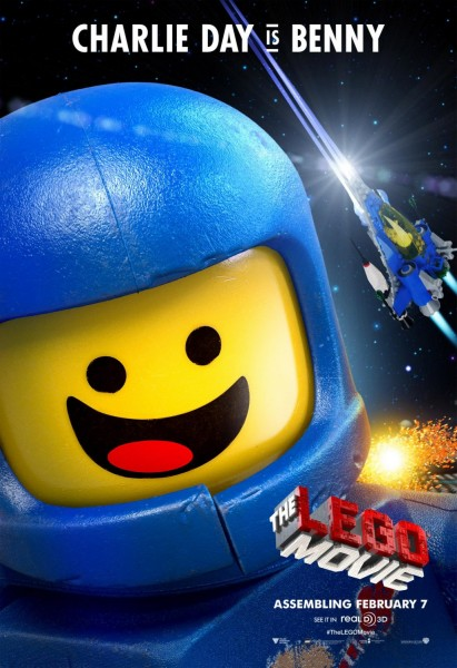 lego movie poster charlie day benny
