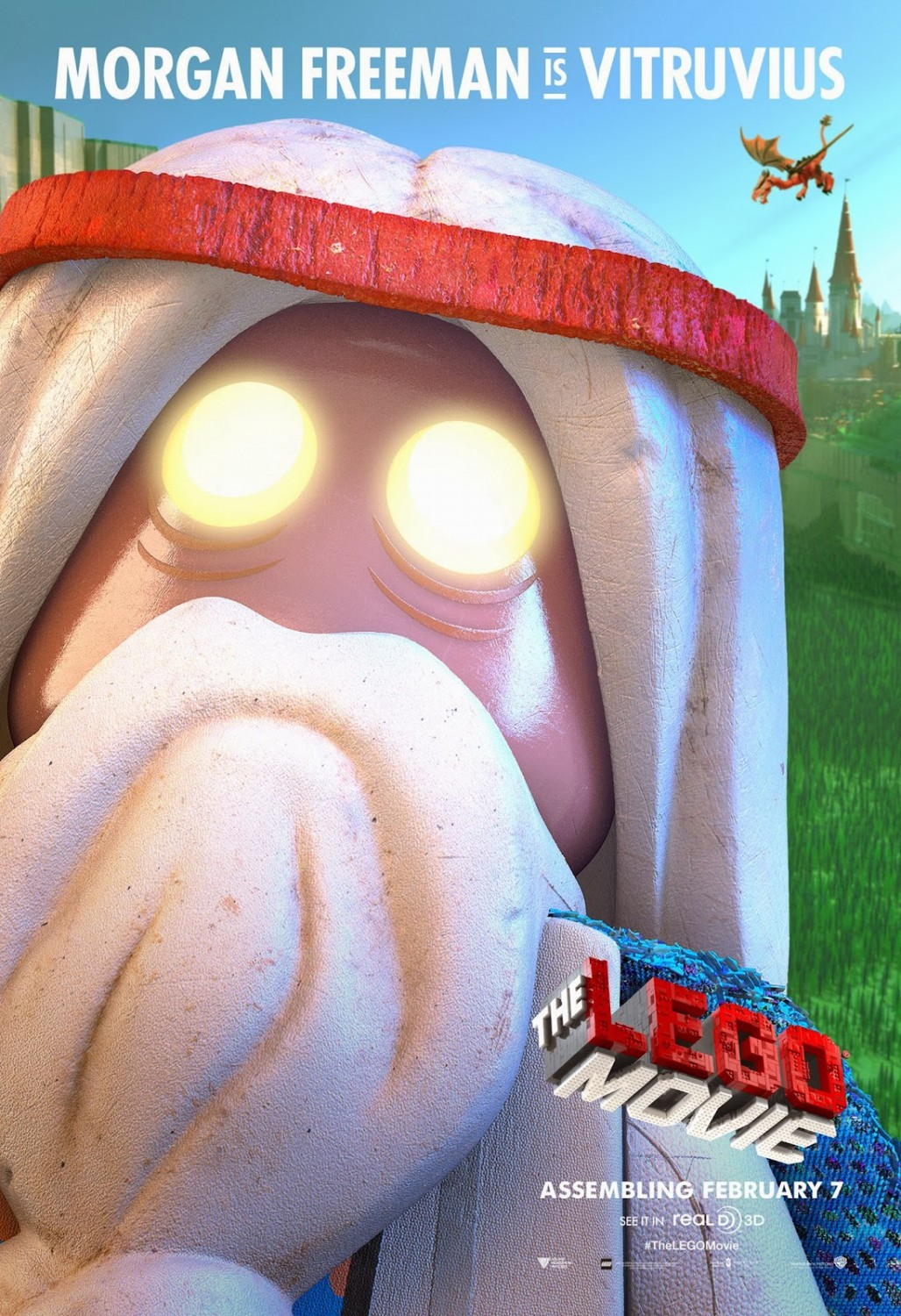 the lego movie character posters for morgan freeman and