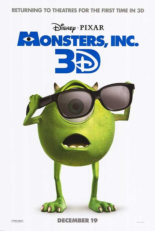Monsters, Inc., Returns to Theaters in 3D!