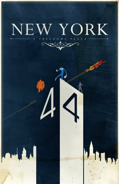 new_york_fantastic_four_travel_poster