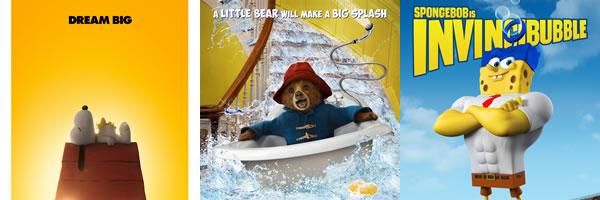 peanuts-paddington-spongebob-posters