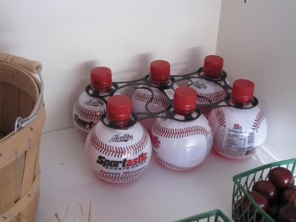 Ken drinks baseball juice, squeezed from the finest baseballs.