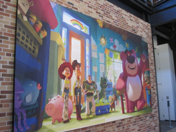 """One of the """"Toy Story 3"""" paintings around the building"""