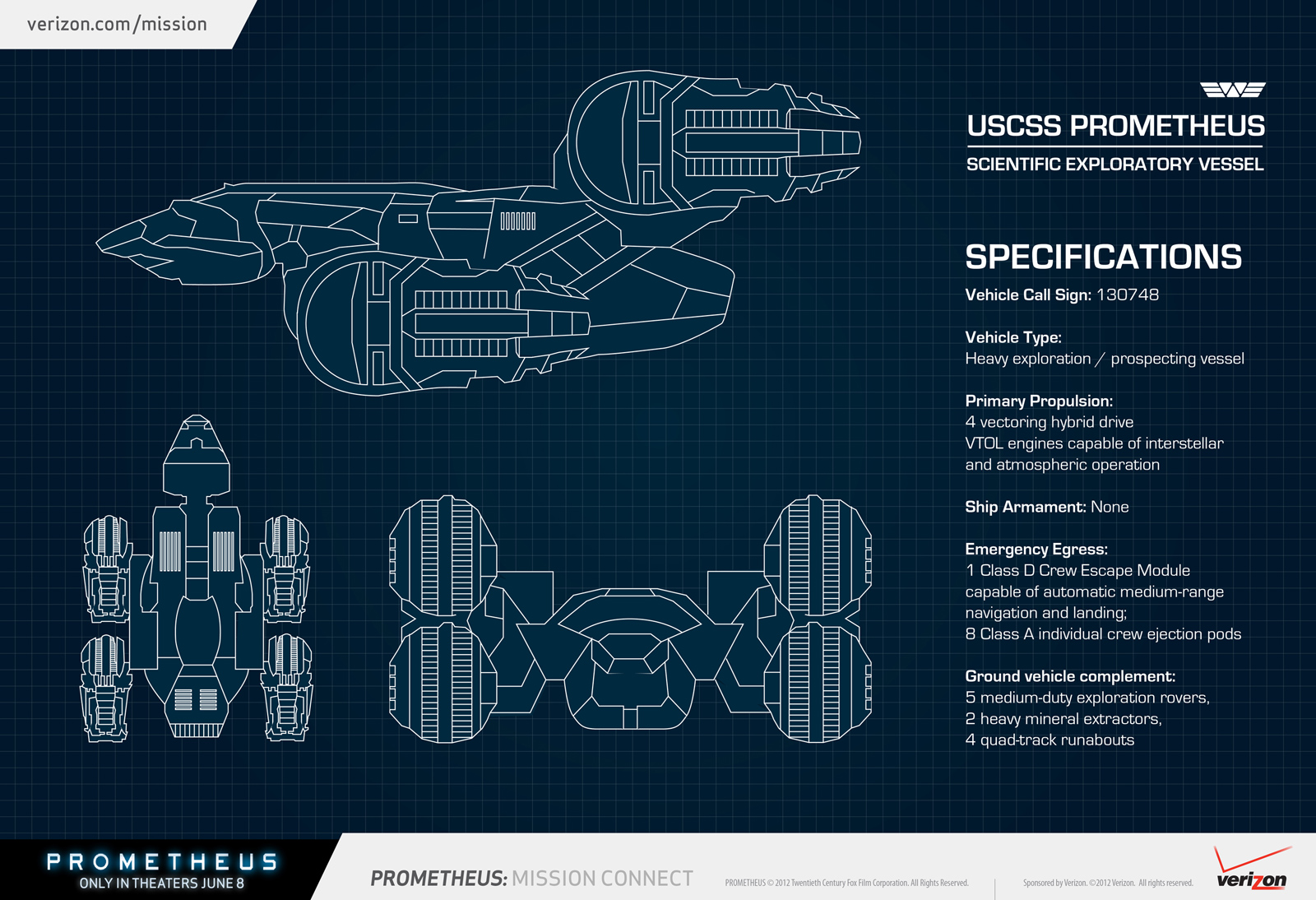 Prometheus Ship Blueprint Image