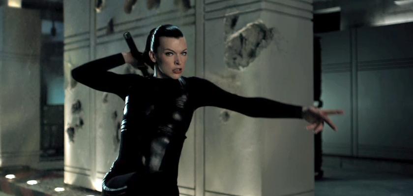 Milla Jovovich On Set ... Milla Jovovich Resident Evil