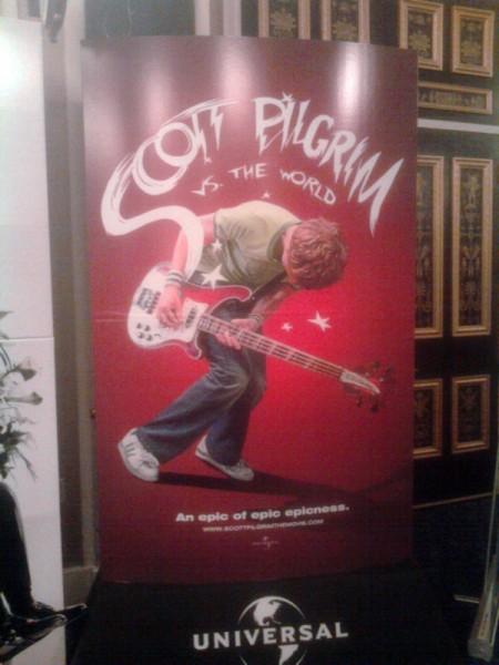 Scott Pilgrim vs. The World movie theater standee