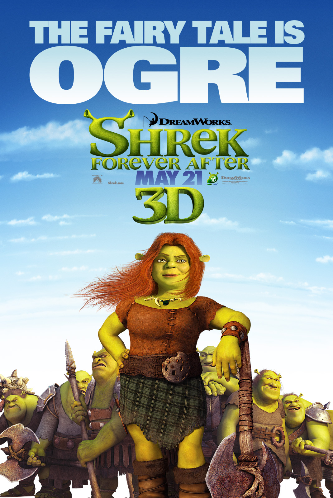 6 new shrek forever after character posters in high