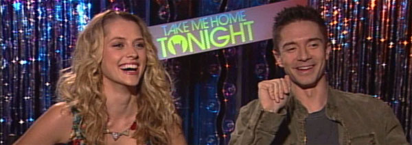 Topher Grace and Teresa Palmer Interview TAKE ME HOME TONIGHT slice