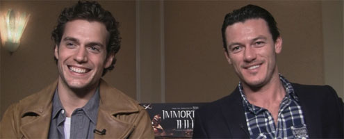 Henry Cavill and Luke Evans Interview IMMORTALS slice Superman