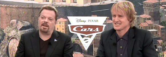 Owen Wilson and Eddie Izzard Interview CARS 2 slice