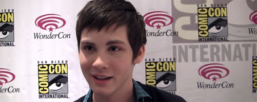 Logan Lerman interview THE THREE MUSKETEERS, PERCY JACKSON Sequels PERKS OF BEING A WALLFLOWER WonderCon slice