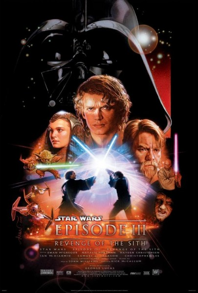 star wars revenge of the sith 3d poster