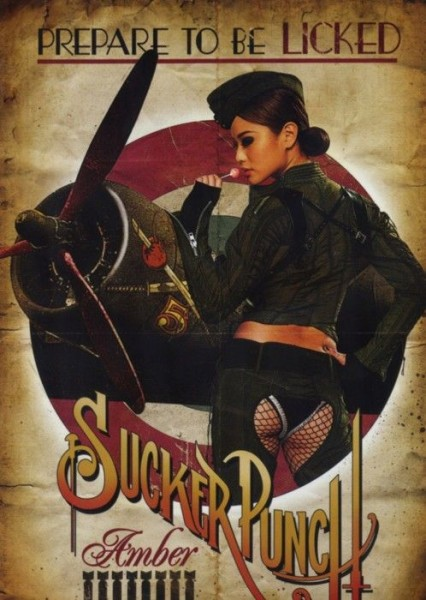 sucker-punch-movie-poster-retro-amber