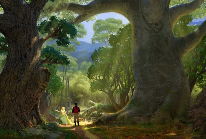 New concept art from disney 39 s tangled collider - Tangled tower wallpaper ...